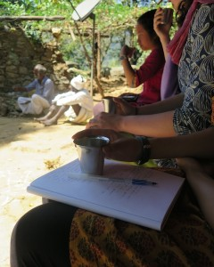 Tea on village visits