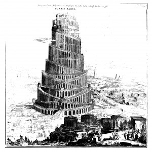 Athanasius Kircher's drawing of The Tower of Babel