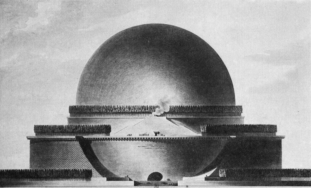 Boullée, Cénotaphe à Newton (1784)