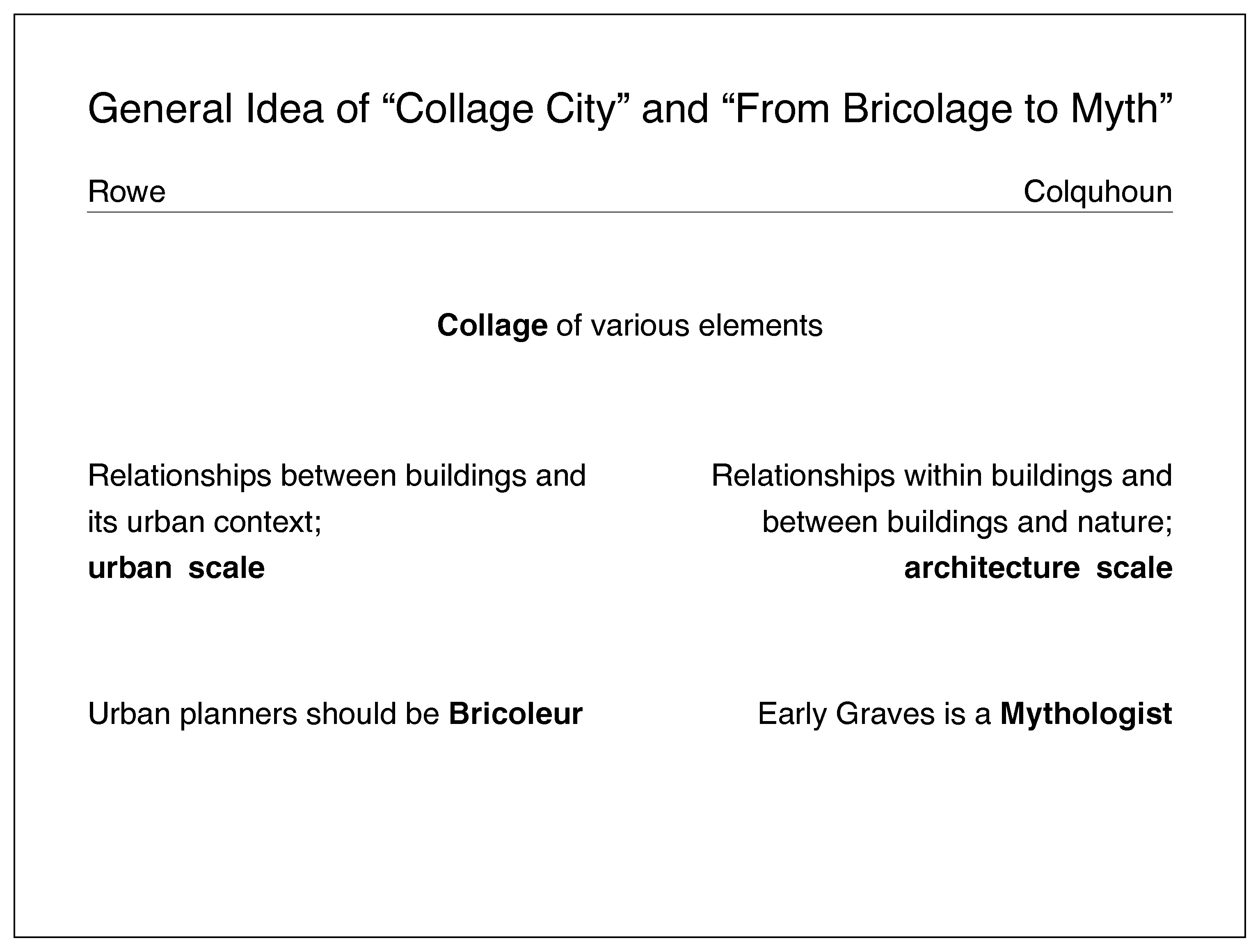 Postmodernisms Theories And Analyses Of Architecture Ii Bridge