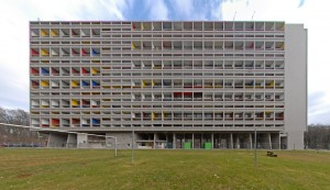 Unité d'Habitation in Berlin. Built for a international exhibition  in 1957.  Photo by Manfred Brückels.