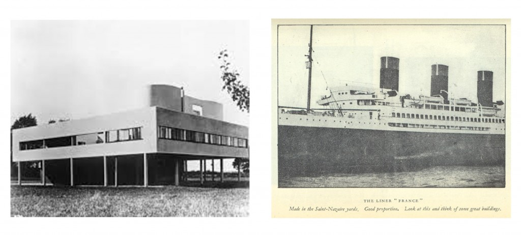 Comparing Villa Savoye and an ocean liner