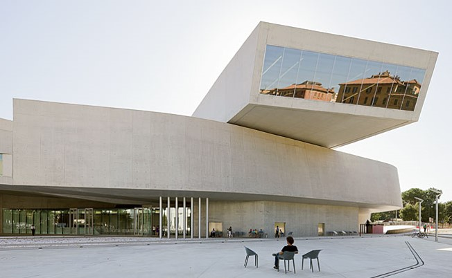 Zaha Hadid Architects' MAXXI. Schumacher's paragon of Parametricism
