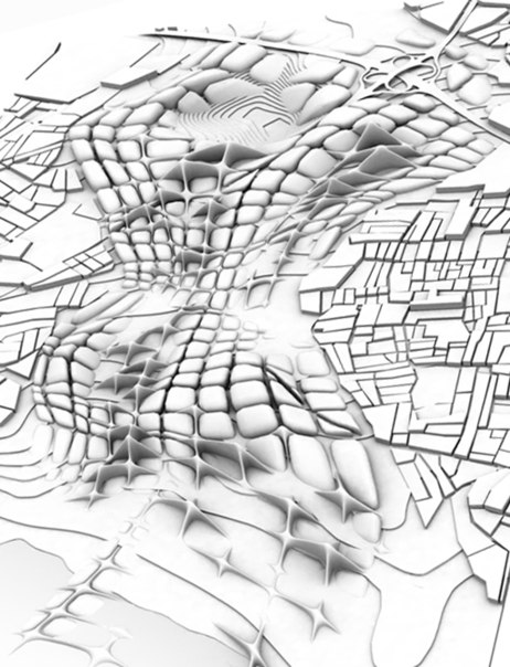 Parametric Design: A Schumacher example of how the continuation and natural flow of natural elements and urban elements into an efficient parametric form