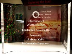 A.Kelly 2016 IWD award -