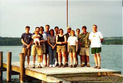 At the lake, June 2000.