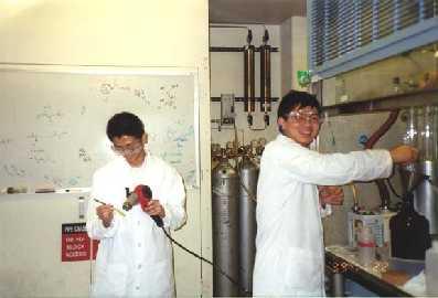 Ming and Jun hard at work.