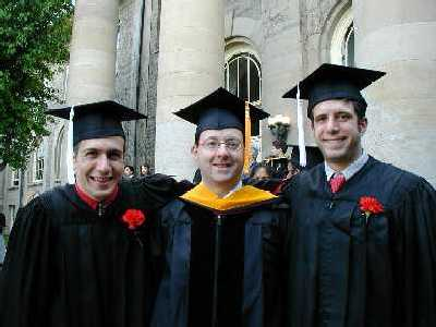 Rob Eaton, Geoff Coates, Joe Reczek - Graduation 2001