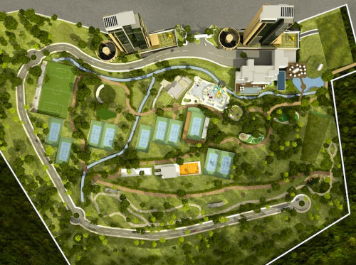 Site rendering of Club Sonoma Residencial, a high end resort Adrian worked on at MGT Land Capital.