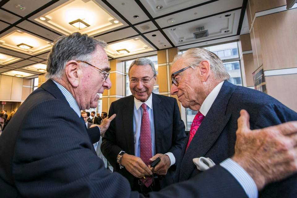The Titans of New York - L to R: Harry Macklowe, William Mack, Larry Silverstein