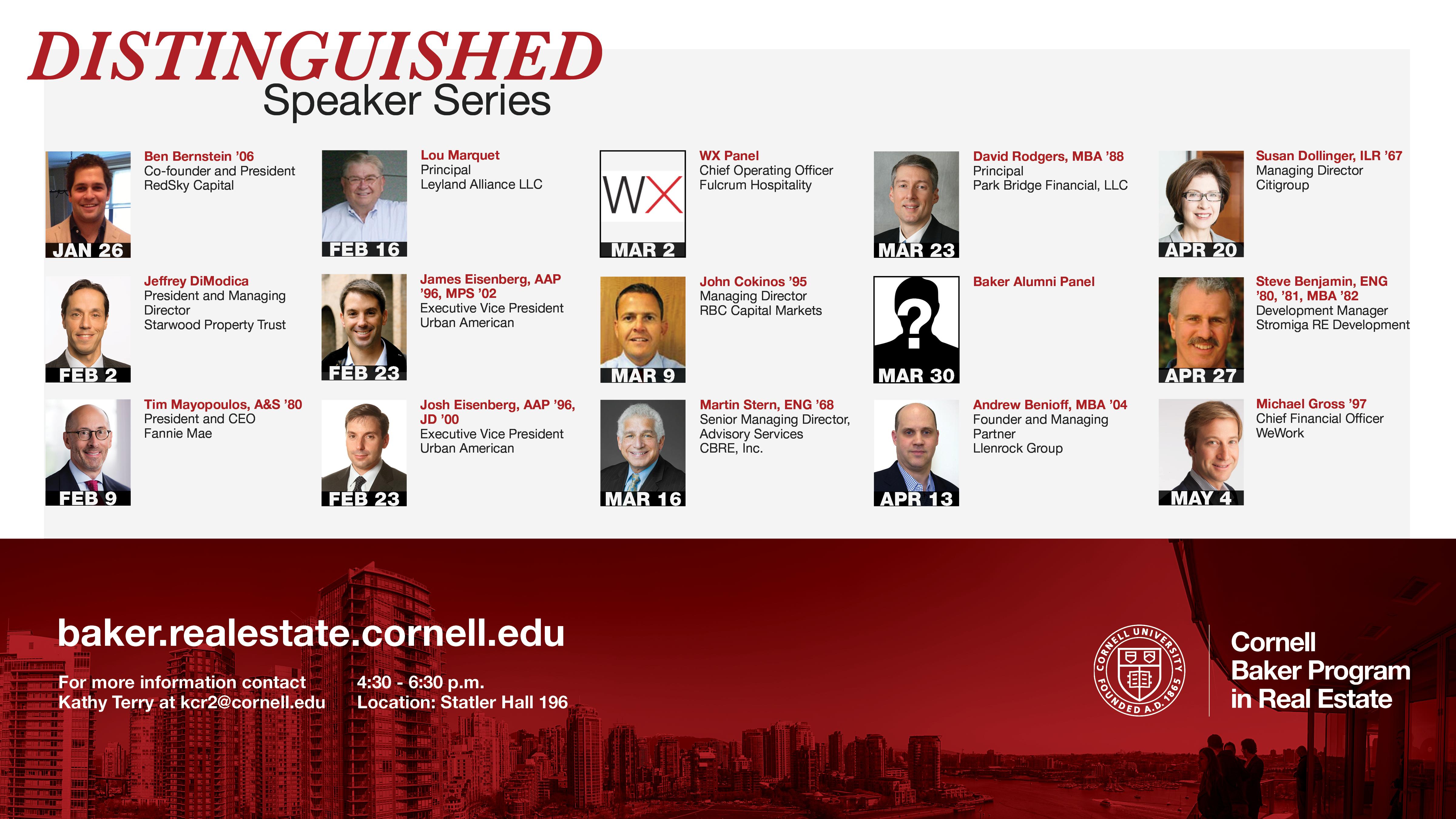 Distinguished Speaker Series: Spring Semester 2017