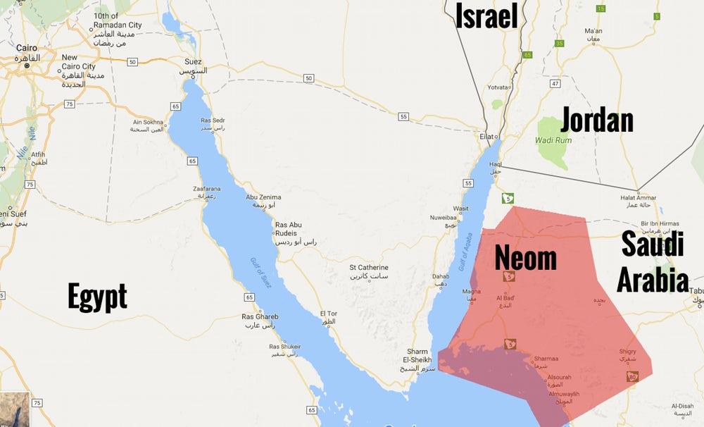 Introducing Neom The Billiondollar Ultrahigh Tech Future - Saudi road map with cities