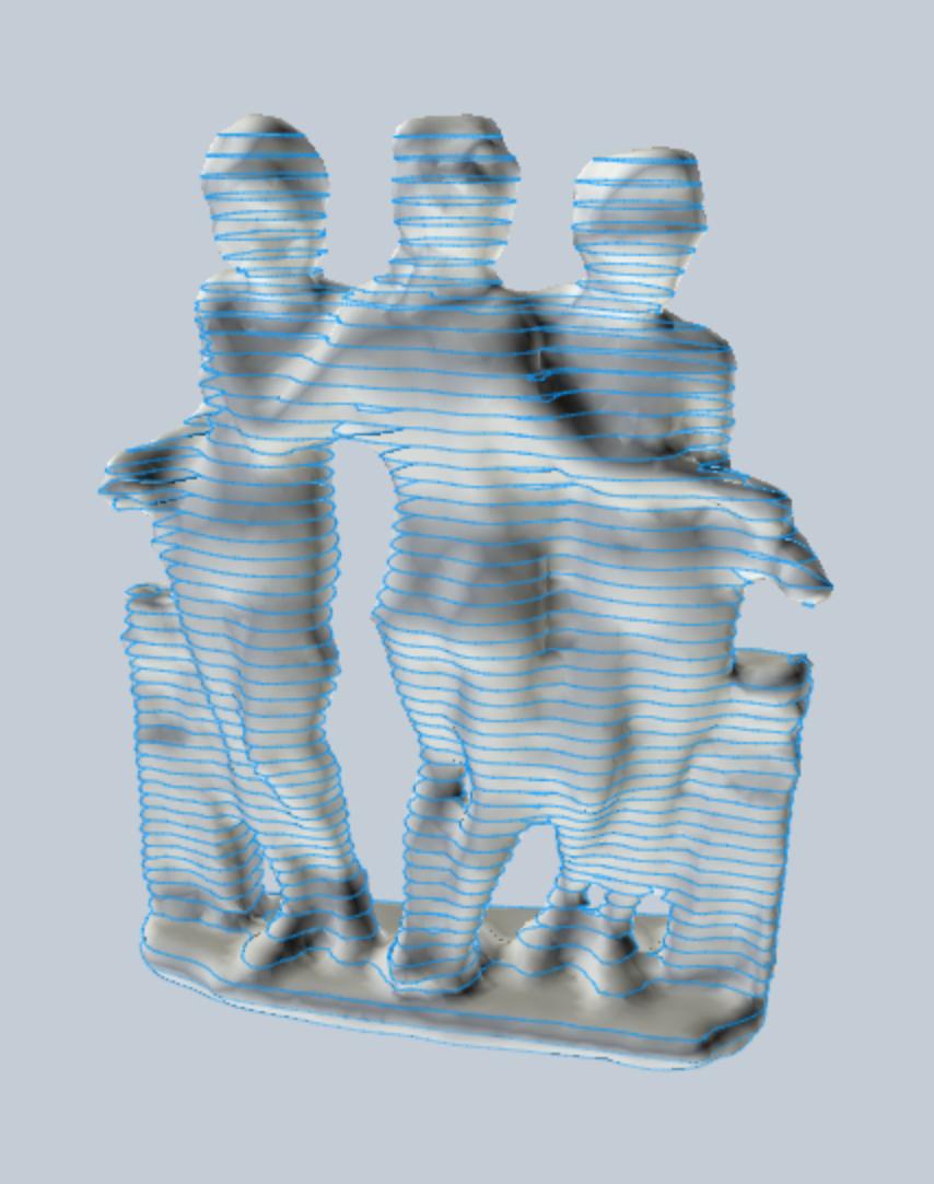 3D Slice Model in 123DMake