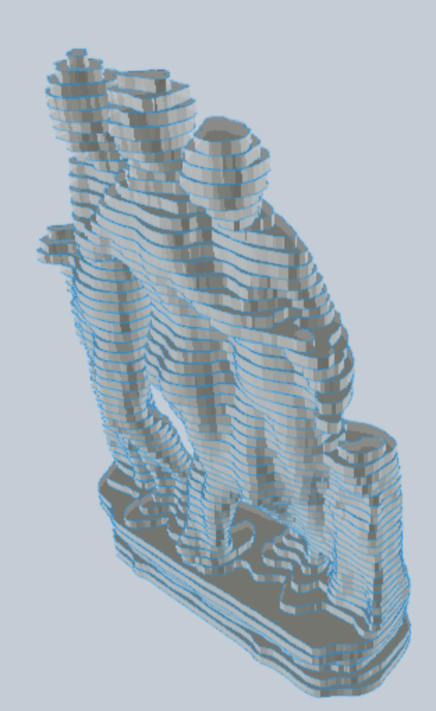 Stacked Slice Model, 123D Make