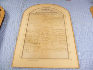 The matting and the document were sealed together with paper tape.