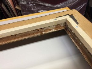 Increasing the thickness of the back of the frame.