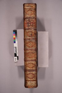 The finished spine, with the original pieces reattached.