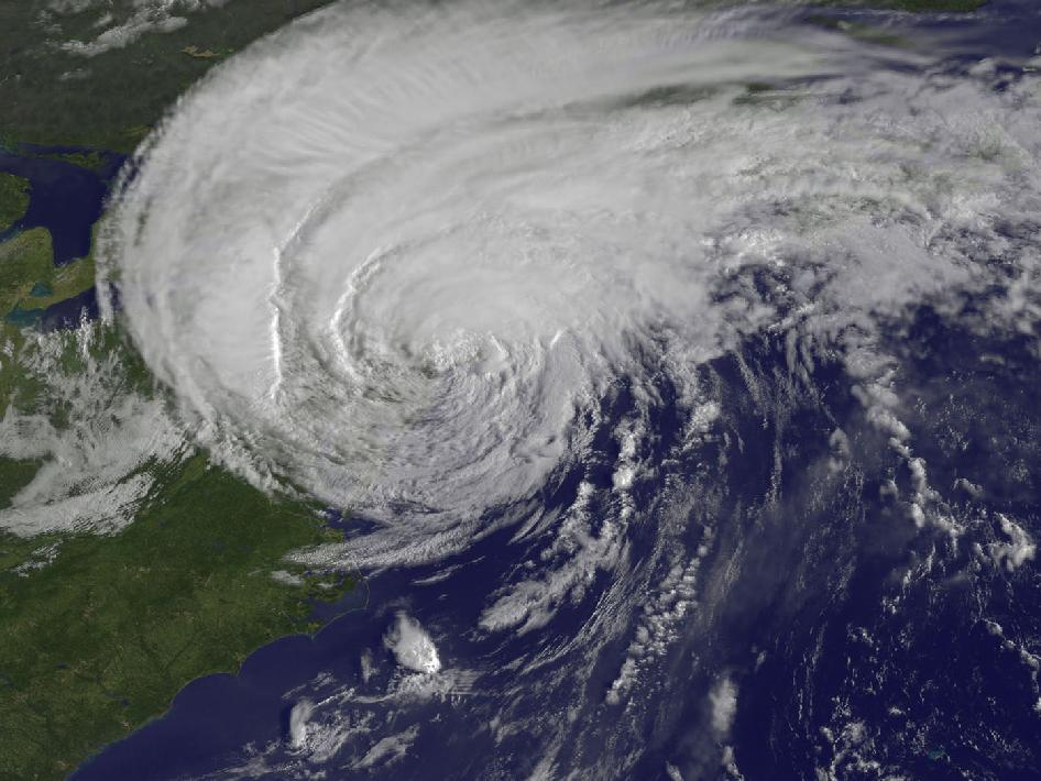 Hurricane Irene over the Northeast