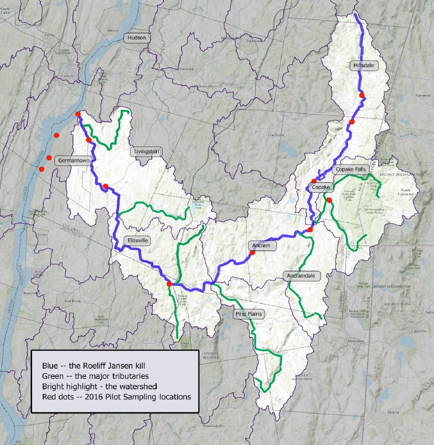 Roe-Jan Watershed Map