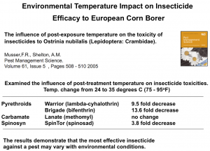 Temp. Effect on ECB Efficacy (Tony Shelton, NYSAES)