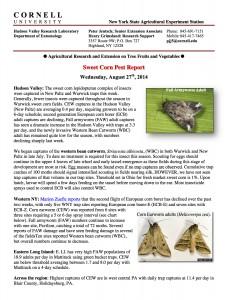 Full Version: Sweet Corn Pest Report, August 27th