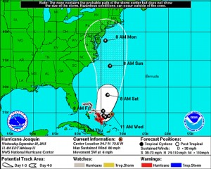 NOAA Tracking of Joaquin