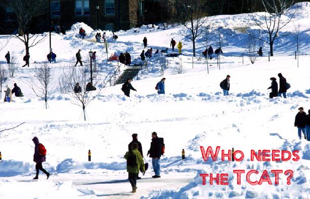 Cornell Arts Quad Snow