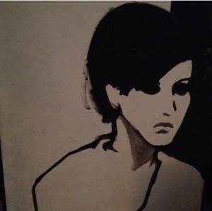 A portrait of Dorothy painted by her roommate, Susan Schade in 1965 or 1966. Susan majored in fine arts at Cornell and would sometimes travel on weekends to spend time at The Factory, Andy Warhol's studio in NYC.