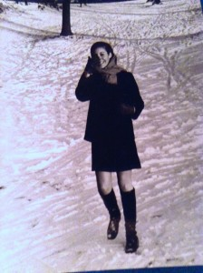 Dorothy Schefer Faux in her signature look on Libe Slope circa 1969.