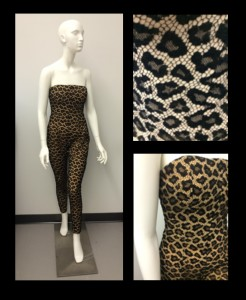 Catsuit designed by Alexander McQueen for Givenchy and donated by Dorothy Schefer Faux (#2002.05.031)