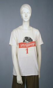 Seventeen Magazine t-shirt from the mid-1970s, donated by Dorothy Schefer Faux (CCTC # #2004.07.041)