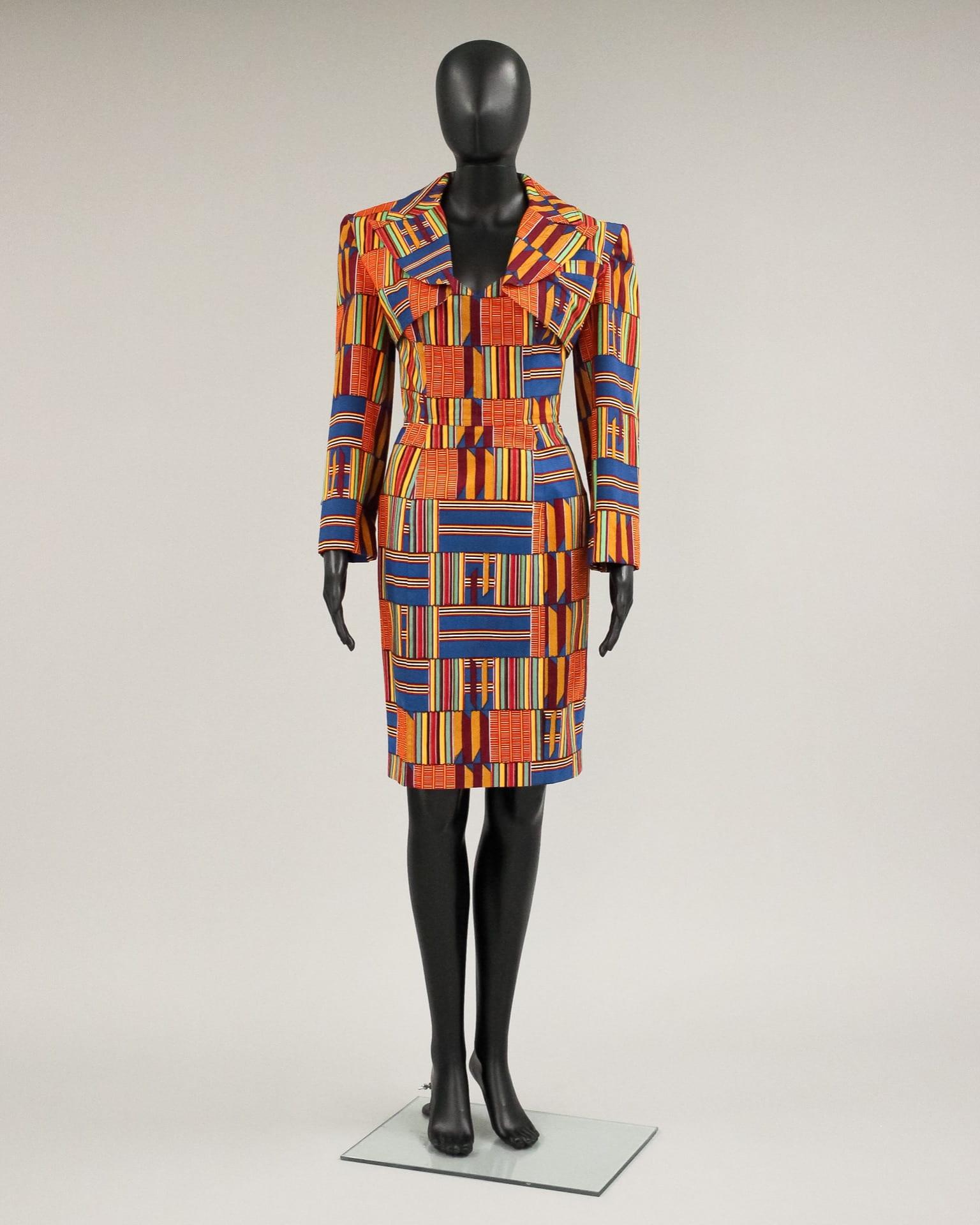 Kente cloth power suit