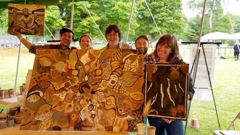 soil painting ithaca reggae fest