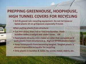BMPs for recycling ag plastic