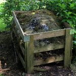 Full Wooden Compost Bin