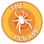 Logo - The Tick App - Bulls Eye with a the outline of a tick in the miidle suurounded by the words The Tick App