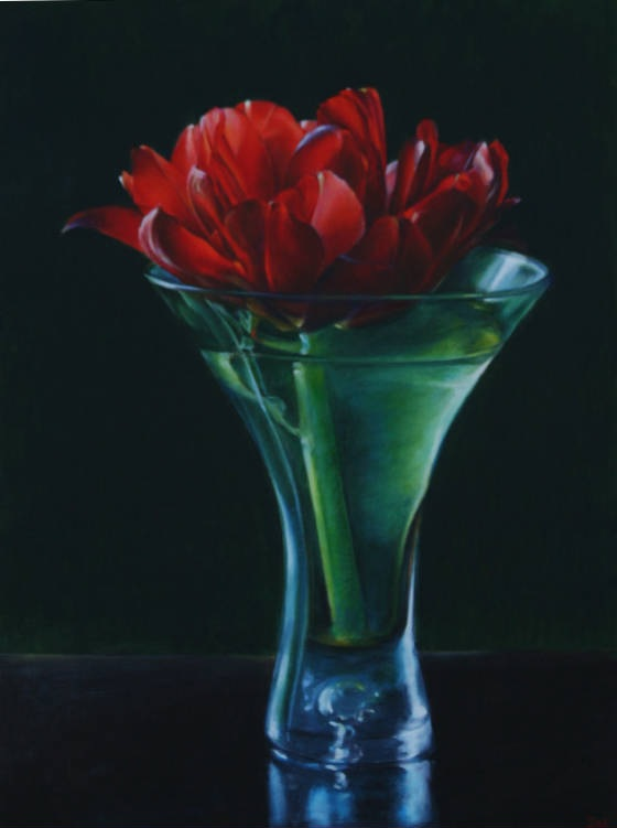 stephanieneely-double-red-48-x-36-oil-pastels-on-canvas