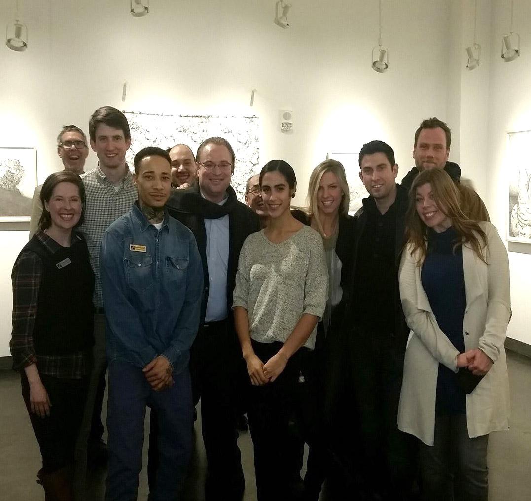 CPCC Young Art League at Miranda Pfeiffer reception