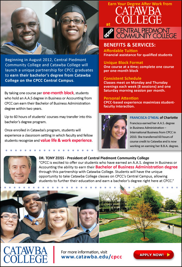 bachelor's degree | Central Piedmont Today