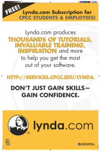 FREE Lynda.com Subscription for CPCC Students and Employees!