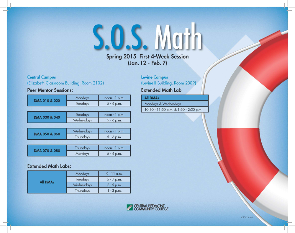 S.O.S. Math | CPCC Today