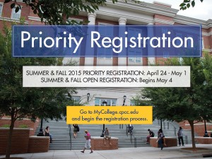 Summer 2015 Priority Registration