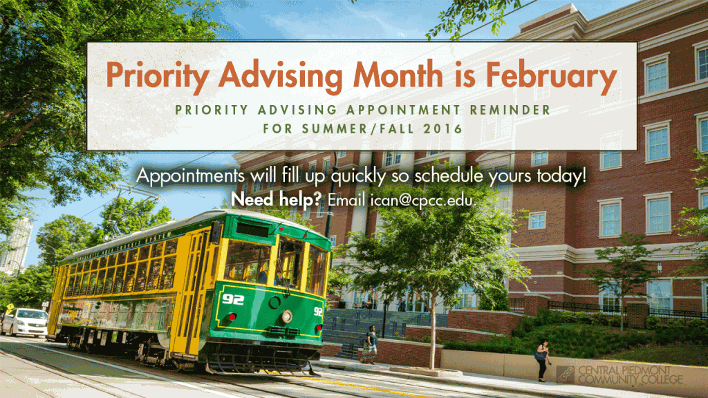 Priority Advising Month