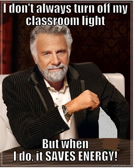 Most interesting man - turn off class light