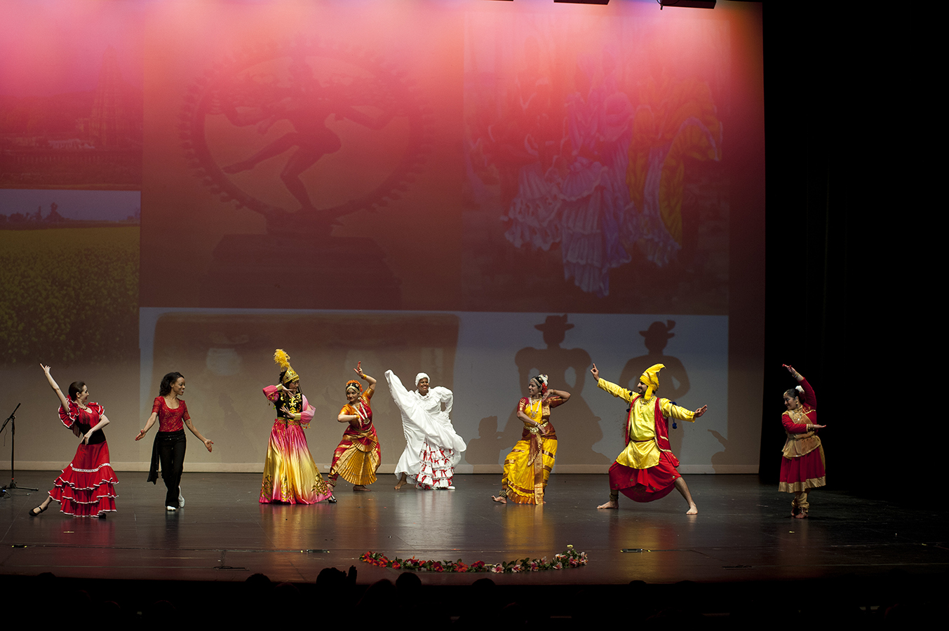 Dances of India stage