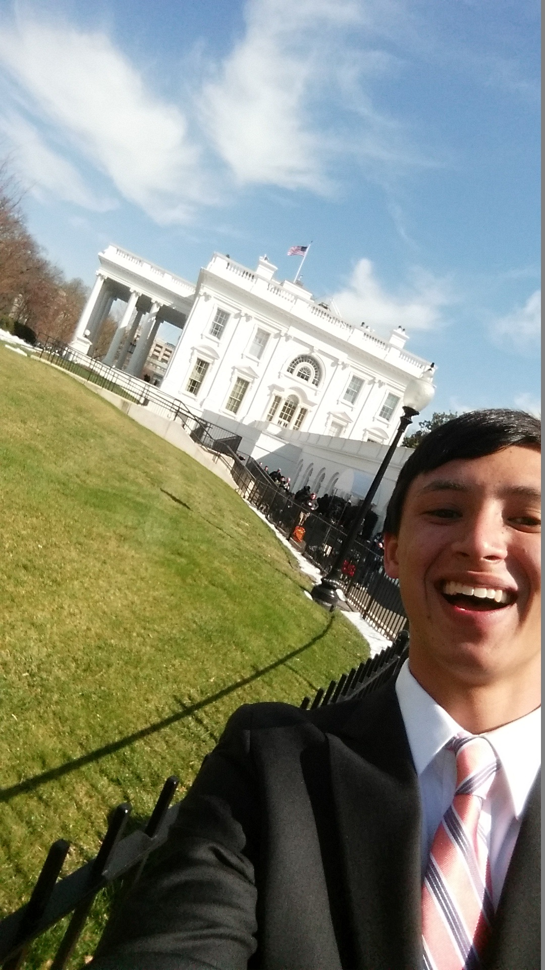 Chad Robinson in front of the White House