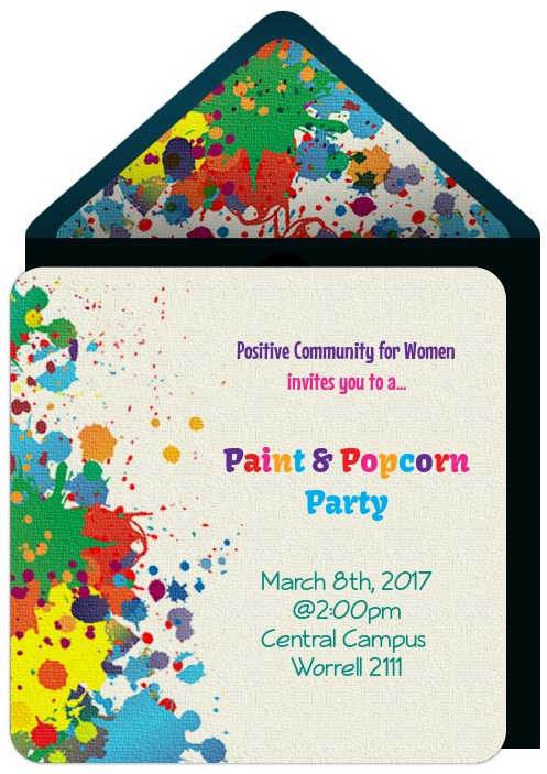 Paint and Popcorn Party