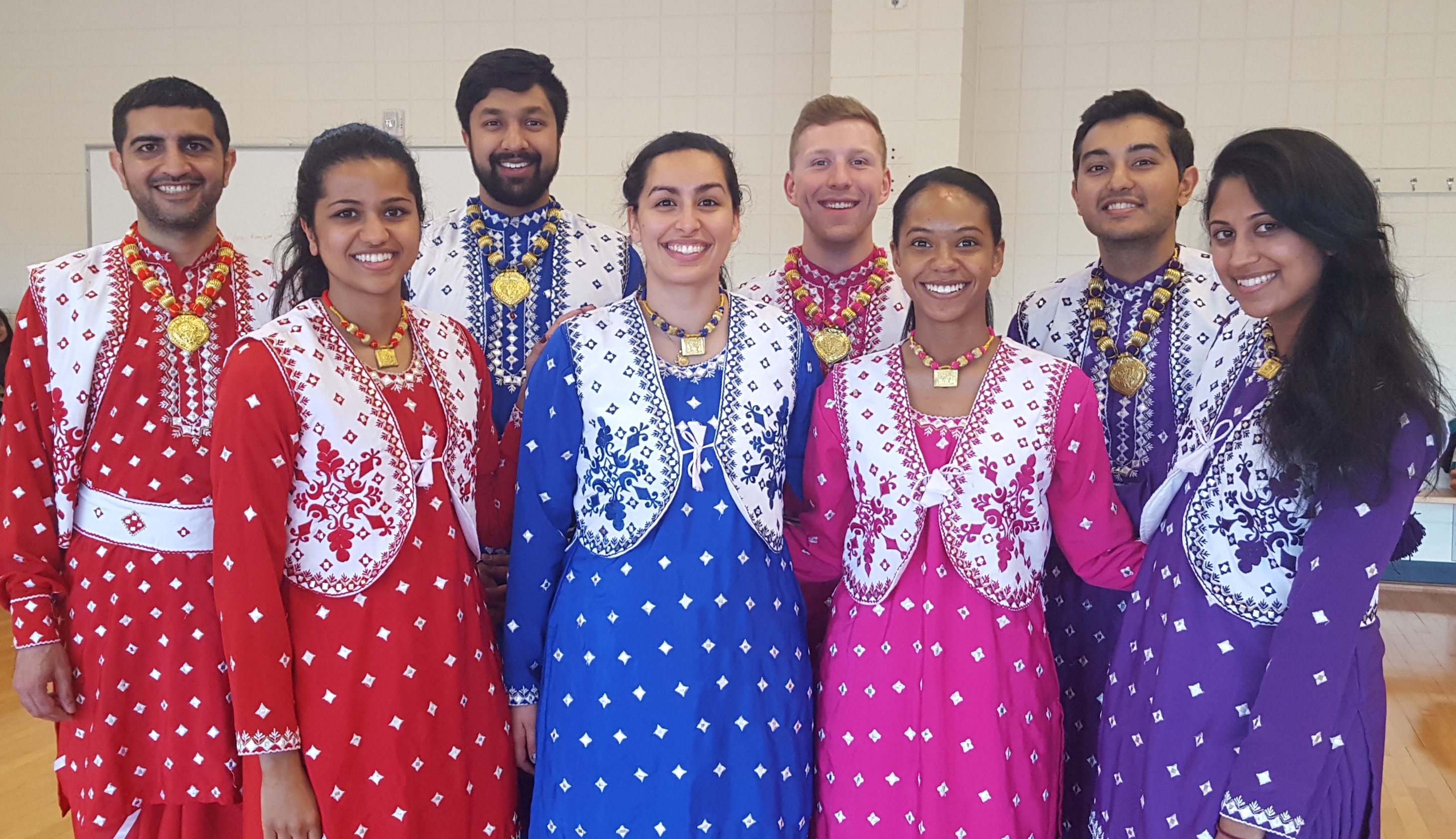 Group of Bhangra dancers