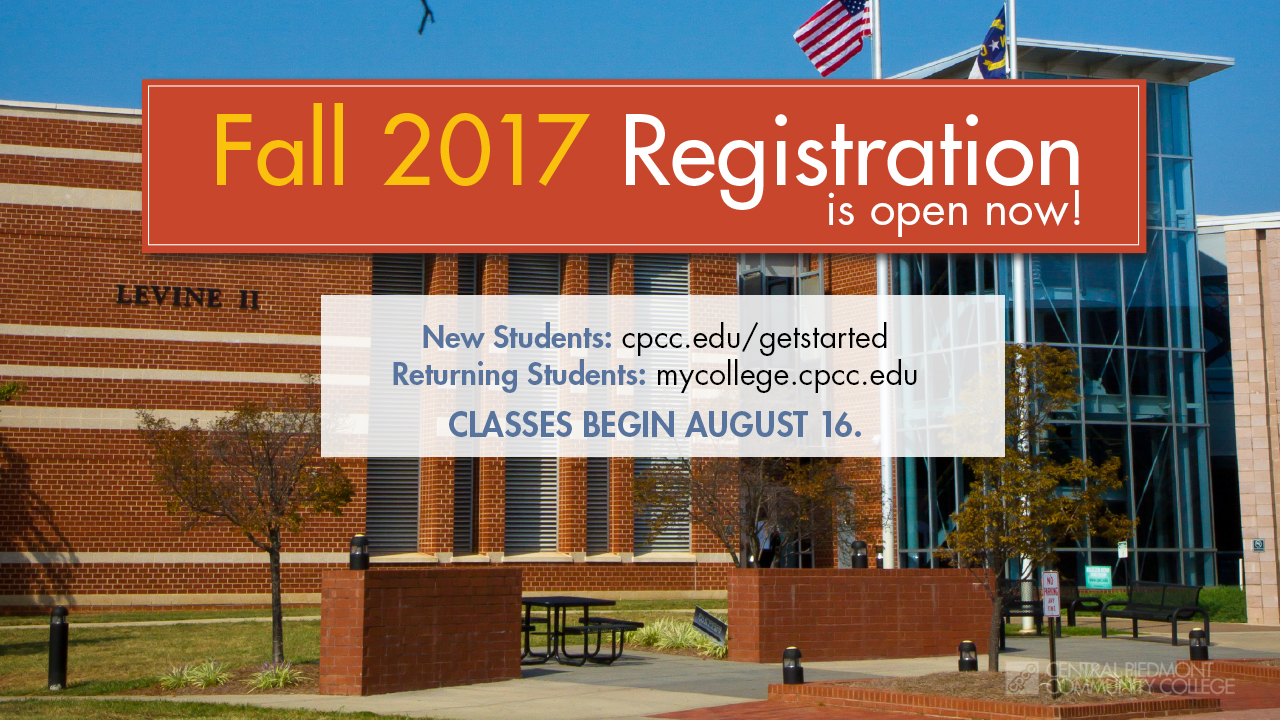 Fall 2017 Registration is open now