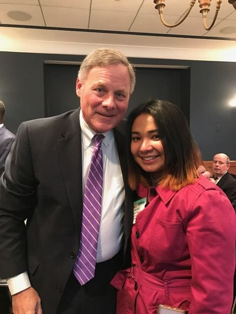 Nicole and Sen. Burr